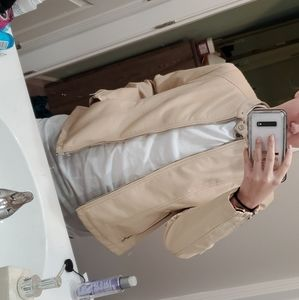 Really leather cream jacket